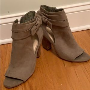 Nine West open-toes booties